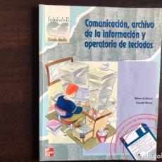 Libros de segunda mano: COMUNICACIÓN. ARCHIVO DE LA INFORMACIÓN Y OPERATIVO DE DATOS. ALFREDO CADIÑANES. Lote 194982080