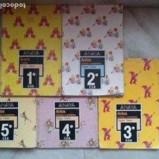 Libros de segunda mano: ANTOS DE 1º A 5º EGB. LIBRO DE BORJA Y PANCETE. ED. ANAYA. Lote 194994897