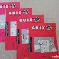 Libros de segunda mano: LOTE 4 LLIBRETS GUIX DOS SUPLEMET GUIX TECNIQUES D'APRENENTAGE I ESTUDI. Lote 195041217