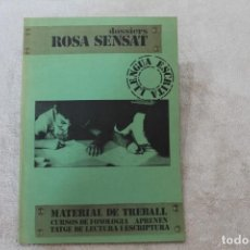 Libros de segunda mano: DOSSIERS ROSA SENSAT MATERIAL DE TREBALL CURSOS DE FONOLOGIA APRENENTATGE DE LECTURA I ESCRIPTURA. Lote 195045323