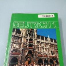 Libros de segunda mano: DEUTSCH 1. BERLITZ. 1990. LIBRO PREVIO A LA CAÍDA DEL MURO.. Lote 195075876