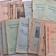 Libros de segunda mano: LOTE 20 CUADERNOS DE ALUMNO DE CENTROS DE SUECA (VALENCIA) INCLUIDO GUERRA CIVIL (VER FOTOGRAFÍAS). Lote 195108876