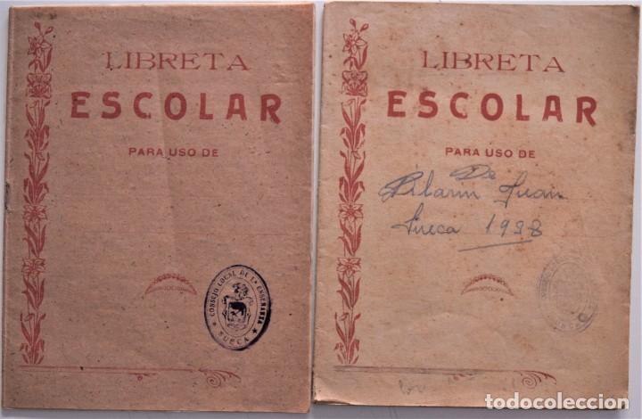 Libros de segunda mano: LOTE 20 CUADERNOS DE ALUMNO DE CENTROS DE SUECA (VALENCIA) INCLUIDO GUERRA CIVIL (VER FOTOGRAFÍAS) - Foto 2 - 195108876
