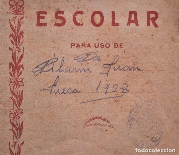 Libros de segunda mano: LOTE 20 CUADERNOS DE ALUMNO DE CENTROS DE SUECA (VALENCIA) INCLUIDO GUERRA CIVIL (VER FOTOGRAFÍAS) - Foto 3 - 195108876