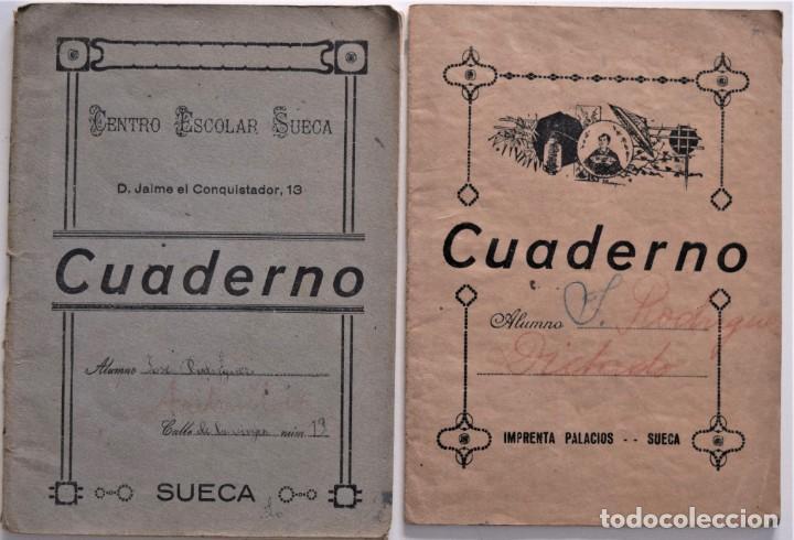 Libros de segunda mano: LOTE 20 CUADERNOS DE ALUMNO DE CENTROS DE SUECA (VALENCIA) INCLUIDO GUERRA CIVIL (VER FOTOGRAFÍAS) - Foto 4 - 195108876