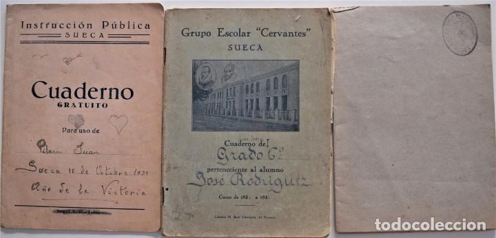 Libros de segunda mano: LOTE 20 CUADERNOS DE ALUMNO DE CENTROS DE SUECA (VALENCIA) INCLUIDO GUERRA CIVIL (VER FOTOGRAFÍAS) - Foto 6 - 195108876
