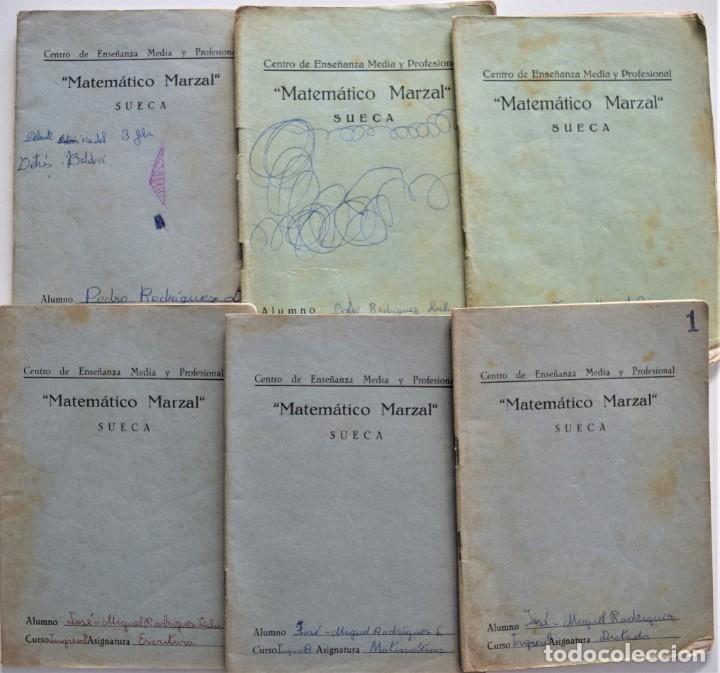 Libros de segunda mano: LOTE 20 CUADERNOS DE ALUMNO DE CENTROS DE SUECA (VALENCIA) INCLUIDO GUERRA CIVIL (VER FOTOGRAFÍAS) - Foto 7 - 195108876