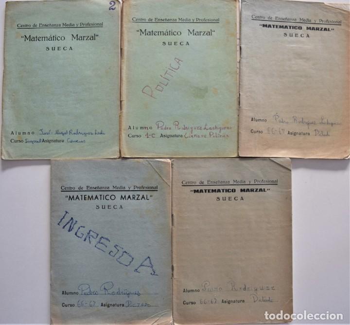 Libros de segunda mano: LOTE 20 CUADERNOS DE ALUMNO DE CENTROS DE SUECA (VALENCIA) INCLUIDO GUERRA CIVIL (VER FOTOGRAFÍAS) - Foto 8 - 195108876