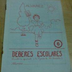 Libros de segunda mano: DEBERES ESCOLARES ÁLVAREZ Nº 6 EDITOR MIÑÓN 21X16 CM.. Lote 195109200