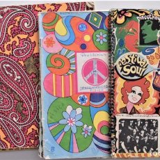 Libros de segunda mano: LOTE 5 CUADERNOS DE ALUMNO AÑOS 70 - PSICODELIA. Lote 195109277