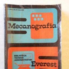 Libros de segunda mano: LIBRO MECANOGRAFIA BIBLIOTECA TECNICO ADMINISTRATIVA EDITORIAL EVEREST DE C. VALLEJO ALLER 1979 LEON. Lote 195130676