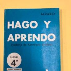 Libros de segunda mano: HAGO Y APRENDO 4º CURSO, 1ER TRIMESTRE - ALVAREZ - EDITORIAL MIÑON 3ª EDICION 1970 - NUEVO!!!. Lote 195310705