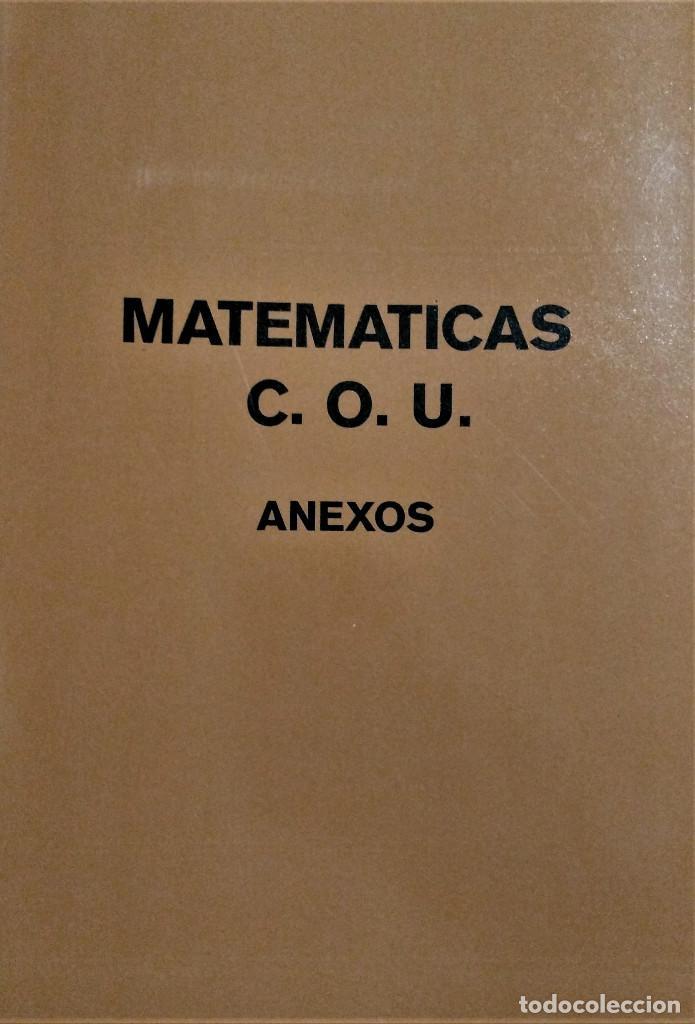 I.N.B.A.D. - MATEMATICAS DE C.O.U. - ANEXOS (Libros de Segunda Mano - Libros de Texto )
