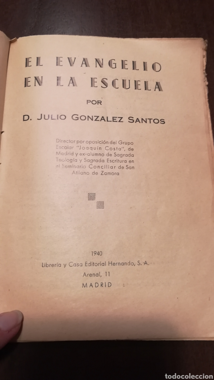 Libros de segunda mano: El Evangelio en la Escuela. Libro de 1940. - Foto 2 - 195338163