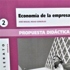 Libros de segunda mano: ECONOMÍA DE LA EMPRESA - 2º BACH - PROPUESTA DIDÁCTICA - JOSÉ MIGUEL RIDAO GONZÁLEZ - ALGAIDA. Lote 195339777