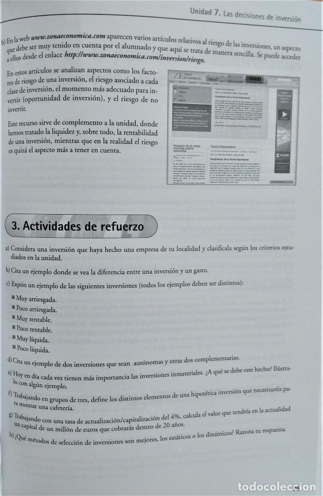 Libros de segunda mano: ECONOMÍA DE LA EMPRESA - 2º BACHILLERATO - PROPUESTA DIDÁCTICA - JOSÉ MIGUEL RIDAO - ALGAIDA - Foto 3 - 195339777