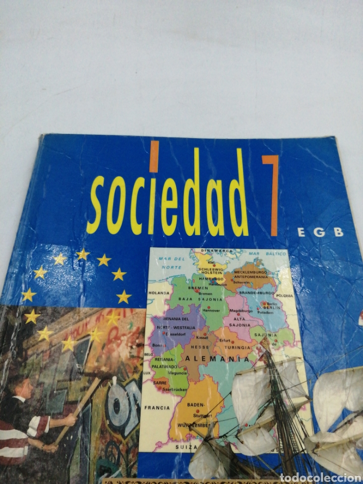 SOCIEDAD 7 EGB SANTILLANA (Libros de Segunda Mano - Libros de Texto )