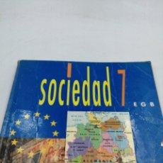 Libros de segunda mano: SOCIEDAD 7 EGB SANTILLANA. Lote 195386667