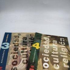 Libros de segunda mano: SM SOCIEDAD CULTURA Y RELIGIÓN 3º Y 4º DE SECUNDARIA. Lote 195387387