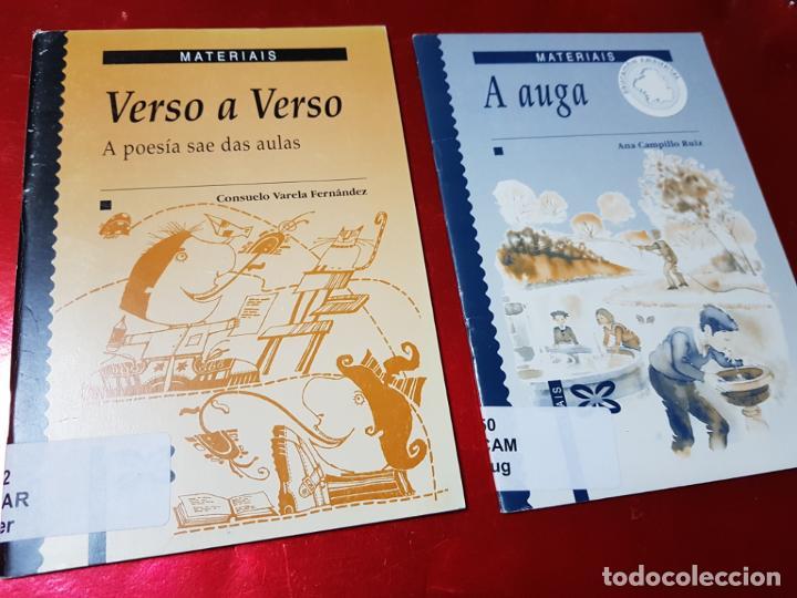 Libros de segunda mano: LIBROS/CUADERNOS-MATERIAIS-GALLEGO-A AUGA+VERSO A VERSO-CONSUELO VARELA FERNANDEZ-ANA CAMPILLO RUÍZ - Foto 2 - 195389352