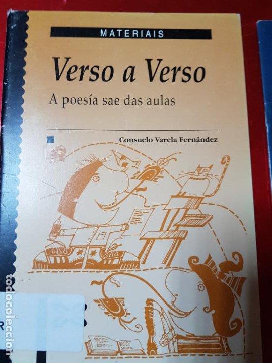 Libros de segunda mano: LIBROS/CUADERNOS-MATERIAIS-GALLEGO-A AUGA+VERSO A VERSO-CONSUELO VARELA FERNANDEZ-ANA CAMPILLO RUÍZ - Foto 6 - 195389352