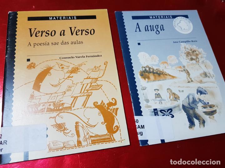 LIBROS/CUADERNOS-MATERIAIS-GALLEGO-A AUGA+VERSO A VERSO-CONSUELO VARELA FERNANDEZ-ANA CAMPILLO RUÍZ (Libros de Segunda Mano - Libros de Texto )