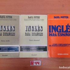 Libros de segunda mano: LIBRO TEXTO CURSO ELEMENTAL DE INGLES PARA ESPAÑOLES -. Lote 195427488