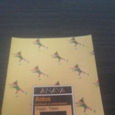 Libros de segunda mano: LIBRO EGB ANAYA LECTURAS Y COMENTARIOS EQUIPO TROPOS 5 EGB. Lote 195463398