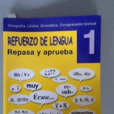 Libros de segunda mano: REFUERZO DE LENGUA 1º ESO. REPASA Y APRUEBA ED. CASAL. CON SOLUCCIONARIO. NUEVO!!!!. Lote 195543457