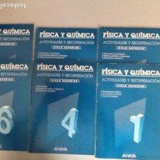Libros de segunda mano: LOTE 6 CUADERNILLOS FISICA Y QUIMICA EGB. ED. ANAYA. SIN UTILIZAR. VER FOTOS. Lote 195614317