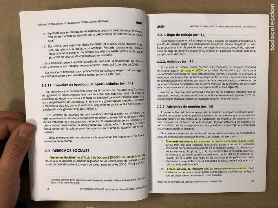 Libros de segunda mano: OPERARIOS DE SERVICIOS DEL SERVICIO VASCO DE SALUD-OSAKIDETZA. 2 LIBROS PARA OPOSITORES - Foto 4 - 195955650