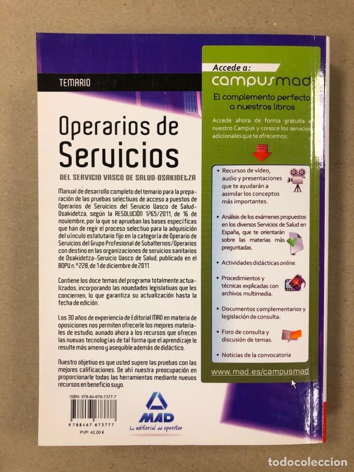 Libros de segunda mano: OPERARIOS DE SERVICIOS DEL SERVICIO VASCO DE SALUD-OSAKIDETZA. 2 LIBROS PARA OPOSITORES - Foto 10 - 195955650