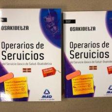 Libros de segunda mano: OPERARIOS DE SERVICIOS DEL SERVICIO VASCO DE SALUD-OSAKIDETZA. 2 LIBROS PARA OPOSITORES. Lote 195955650