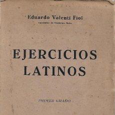 Libros de segunda mano: EJERCICIOS LATINOS. PRIMER GRADO. Lote 196303233