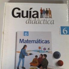 Libri di seconda mano: MATEMATICAS 6º PRIMARIA. GUIA DIDÁCTICA. SANTILLANA. Lote 196357460