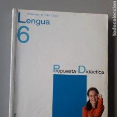 Libros de segunda mano: LENGUA. 6º PRIMARIA. PROPUESTA DIDACTICA. ED. ANAYA. Lote 196359380
