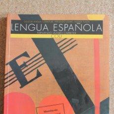 Libros de segunda mano: LENGUA ESPAÑOLA. COU. CICLO DE LENGUA Y LITERATURA. FERNANDO LÁZARO. VICENTE TUSÓN.. Lote 196893518