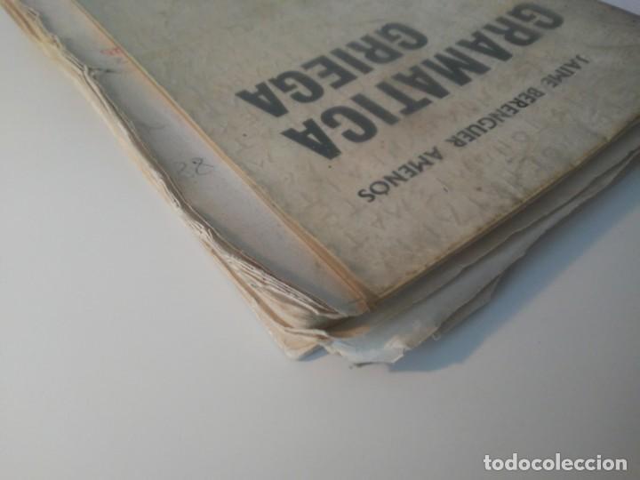 Libros de segunda mano: Gramática Griega bosch Casa Editorial Barcelona 1972 Jaime Berenguer Defectuoso - Foto 3 - 197144628