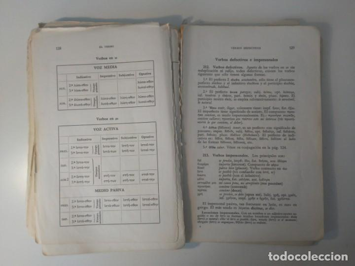 Libros de segunda mano: Gramática Griega bosch Casa Editorial Barcelona 1972 Jaime Berenguer Defectuoso - Foto 11 - 197144628