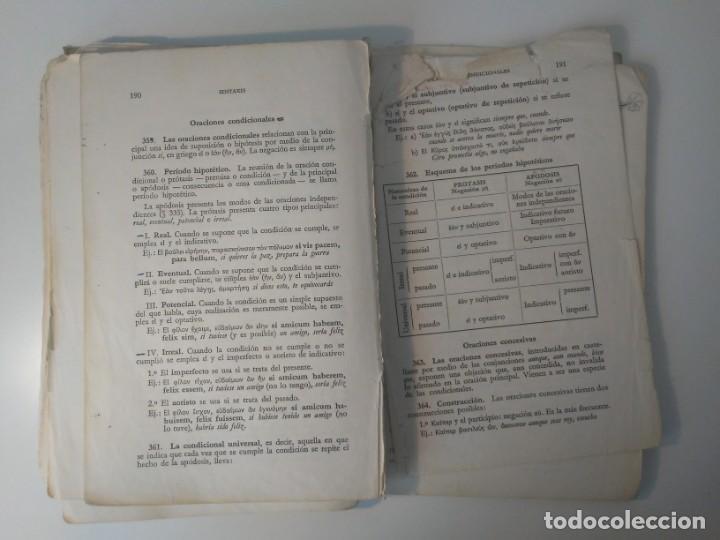 Libros de segunda mano: Gramática Griega bosch Casa Editorial Barcelona 1972 Jaime Berenguer Defectuoso - Foto 12 - 197144628