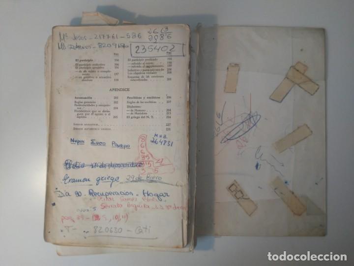 Libros de segunda mano: Gramática Griega bosch Casa Editorial Barcelona 1972 Jaime Berenguer Defectuoso - Foto 18 - 197144628