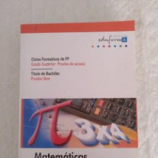 Libros de segunda mano: MATEMÁTICAS. CICLOS FORMATIVOS DE FP. GRADO SUPERIOR. TÍTULO DE BACHILLER. LIBRO. Lote 198482562