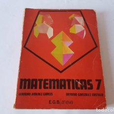 Libros de segunda mano: MATEMATICAS 7º EGB, ANAYA 1981. Lote 198758175