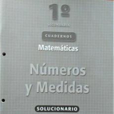 Libros de segunda mano: 1º DE SECUNDARIA: CUADERNOS DE MATEMÁTICAS. OXFORD EDUCACIÓN. Lote 192744190