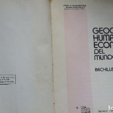 Libros de segunda mano: GEOGRAFIA HUMANA Y ECONOMICA DEL MUNDO ACTUAL SM GARMENDIA Y RASTRILLA 1978. Lote 200554613