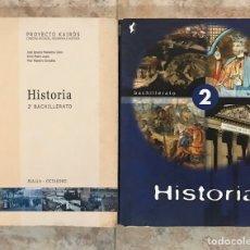 Libros de segunda mano: LOTE 2 LIBROS HISTORIA 2º BACHILLERATO - PROYECTO KAIROS - ECIR. Lote 200743003