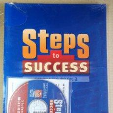 Libros de segunda mano: STEPS TO SUCCESS STUDENT'S BOOK Y WORKBOOK 2 OXFORD . SON NUEVOS LIBROS DE TEXTO DE INGLÉS. Lote 201160786
