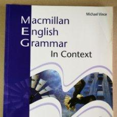 Libros de segunda mano: ENGLISH GRAMMAR IN CONTEXT WITH KEY INTERMEDIATE MACMILLAN. COMO NUEVO LIBRO DE TEXTO DE INGLÉS. Lote 201162191