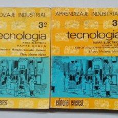 Libros de segunda mano: TECNOLOGIA 3º DE APRENDIZAJE INDUSTRIAL. RAMA ELECTRICA. 2 LIBROS. ELISEO MATEOS MELON. TDK251. Lote 202265762