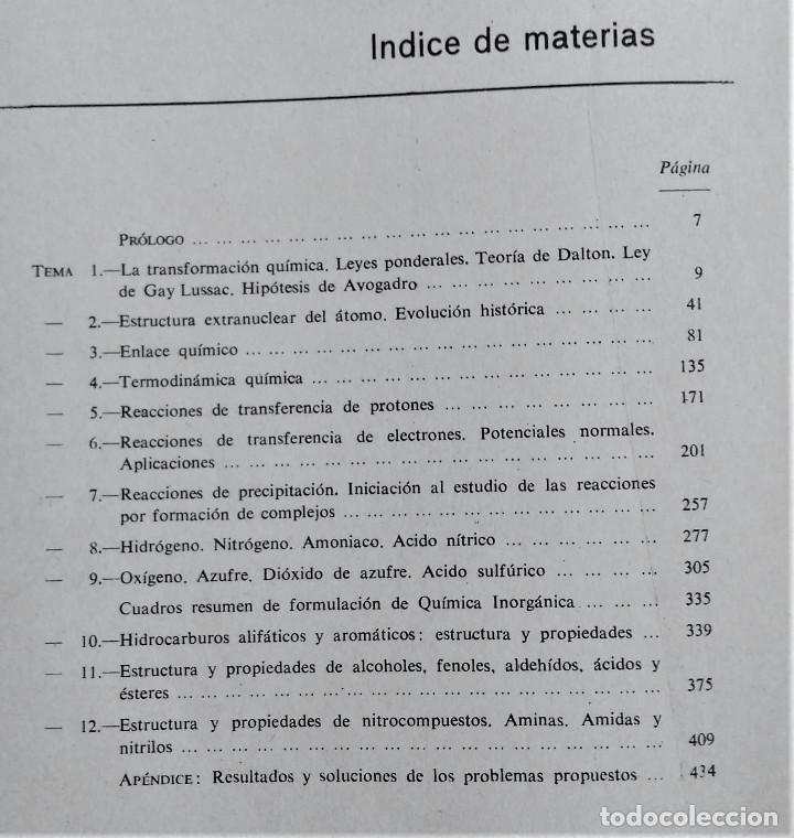 Libros de segunda mano: QUIMICA - C.O.U. - ECIR - MIRALLES CONESA / NAGORE GÓMEZ /PASCUAL GONZÁLEZ - Foto 4 - 194227905